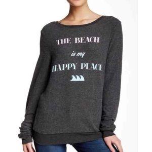 Wildfox grey sweatshirt BBJ size small beach
